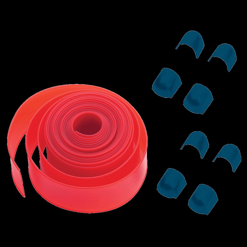 PCA6, пластиковые  накладки (12,6 м) на стрелу, красного цвета